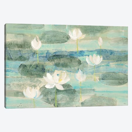 Bright Water Lilies Canvas Print #WAC6388} by Albena Hristova Art Print