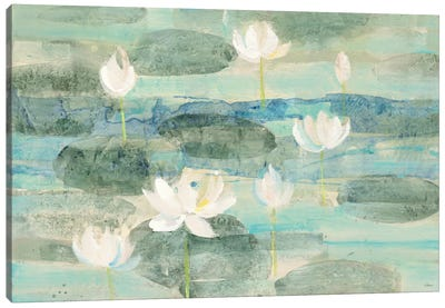 Bright Water Lilies Canvas Art Print