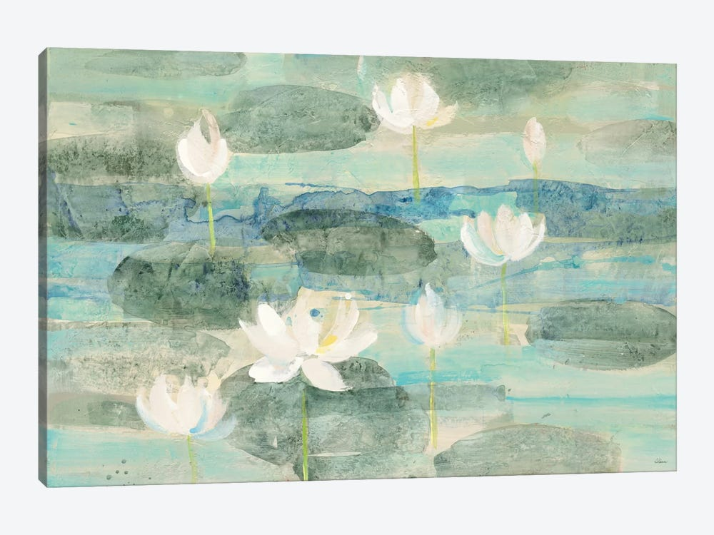 Bright Water Lilies 1-piece Canvas Art