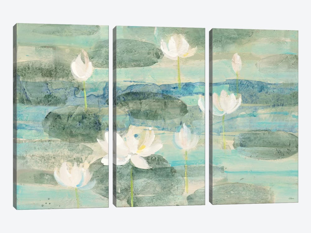 Bright Water Lilies 3-piece Canvas Art