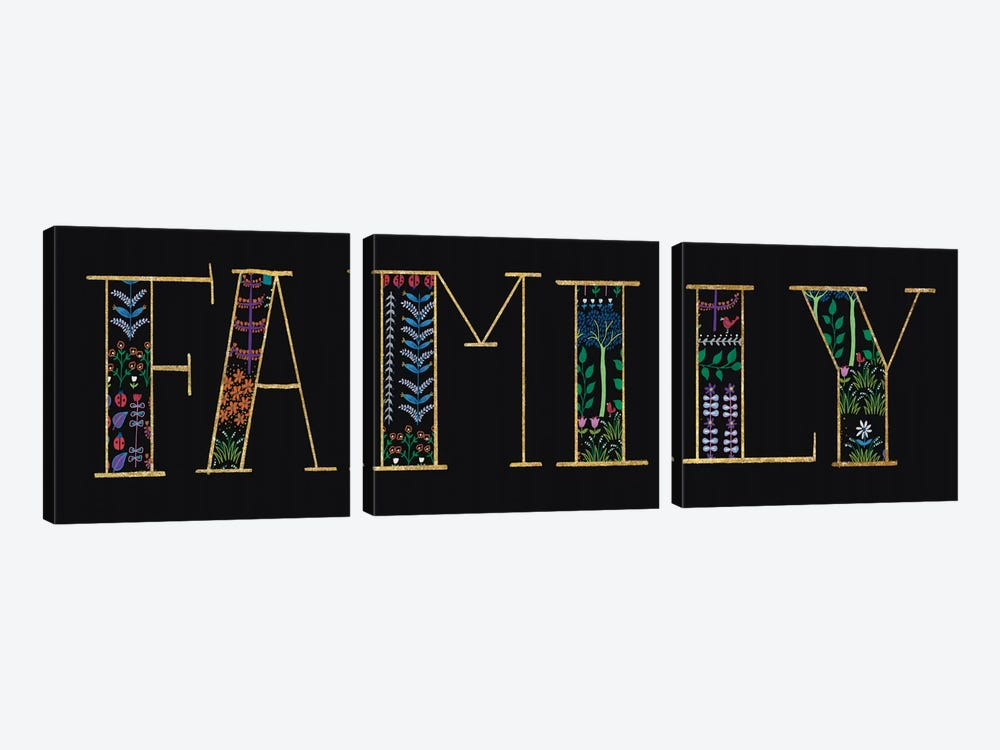 Family by Wild Apple Portfolio 3-piece Canvas Art Print