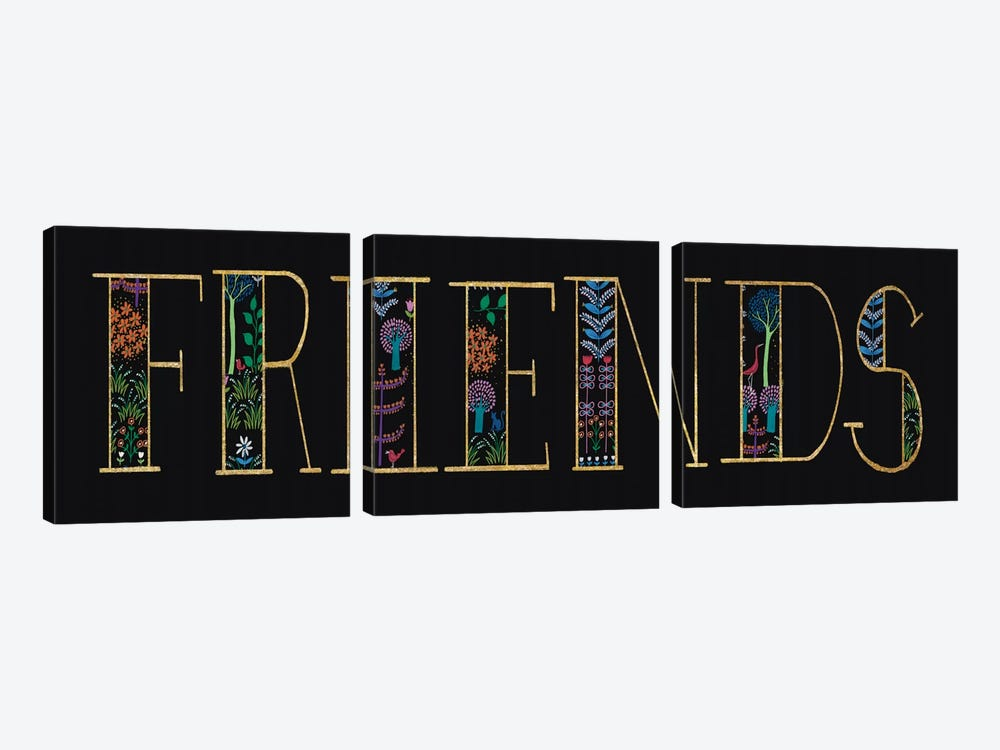 Friends by Wild Apple Portfolio 3-piece Canvas Wall Art