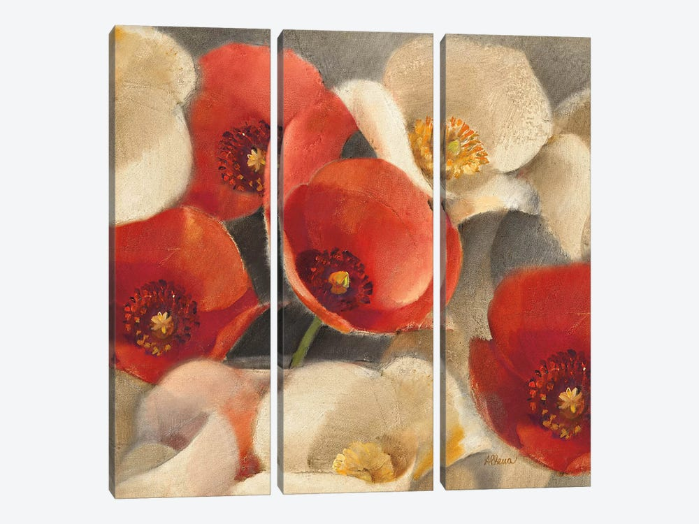 Poppies Bloom II by Albena Hristova 3-piece Canvas Art Print