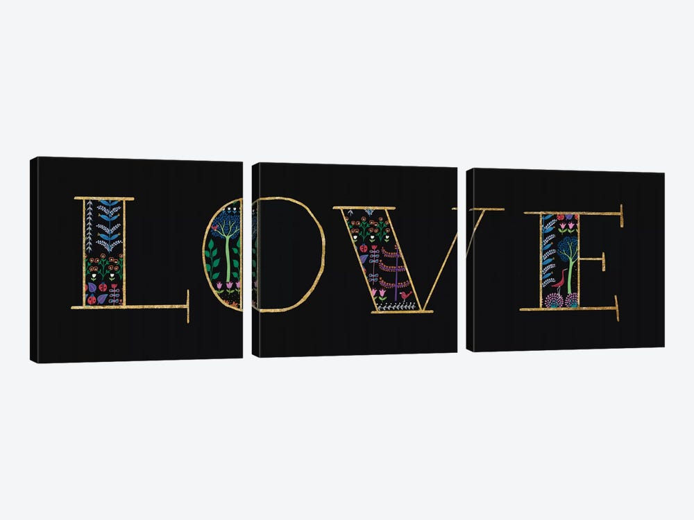 Love by Wild Apple Portfolio 3-piece Canvas Wall Art