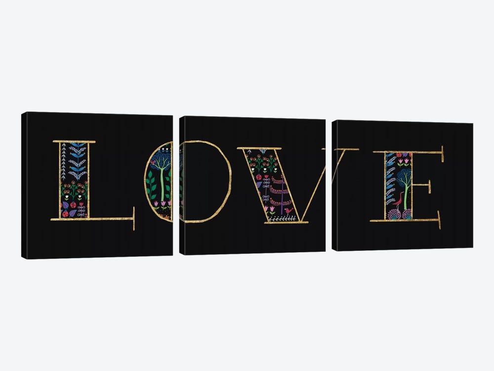 Love by Wild Apple Portfolio 3-piece Canvas Wall Art