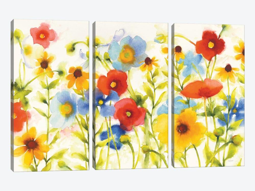 Americana Meadow I by Shirley Novak 3-piece Canvas Art