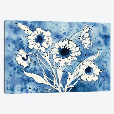 Batik Flowers Canvas Print #WAC6413} by Shirley Novak Canvas Print