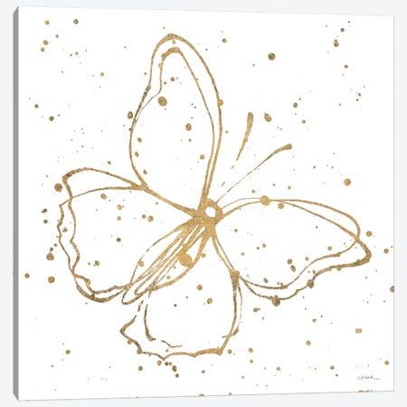 Golden Wings I Canvas Print #WAC6416} by Shirley Novak Canvas Wall Art