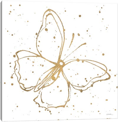 Golden Wings I Canvas Art Print