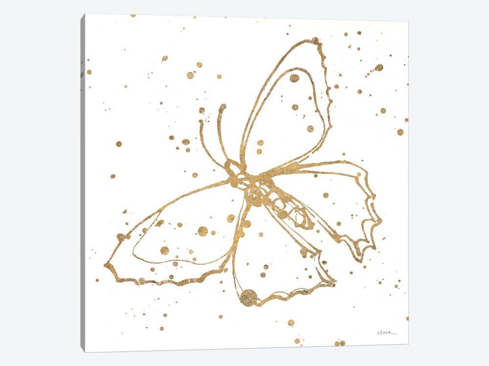 Golden Wings II by Shirley Novak 1-piece Canvas Print