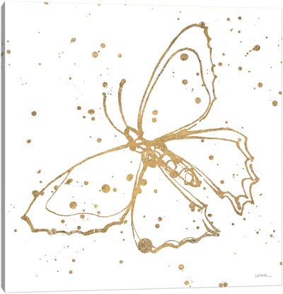 Golden Wings II Canvas Art Print