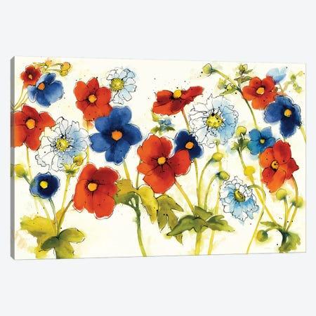 Independent Blooms I Canvas Print #WAC6418} by Shirley Novak Art Print