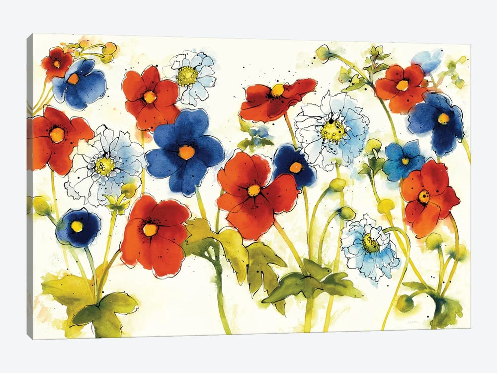 Independent Blooms I by Shirley Novak 1-piece Canvas Art
