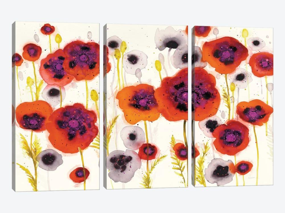 Splash Garden I by Shirley Novak 3-piece Art Print