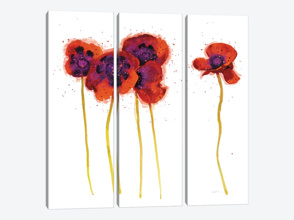 Splash Garden II 3-piece Canvas Art Print