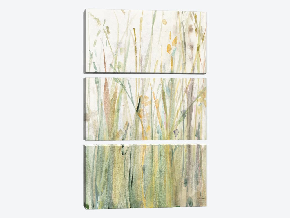 Spring Grasses I by Avery Tillmon 3-piece Canvas Print