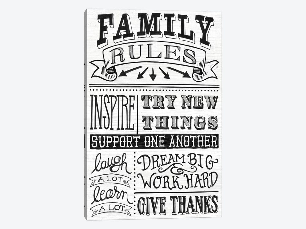 Family Rules II by Mary Urban 1-piece Canvas Print