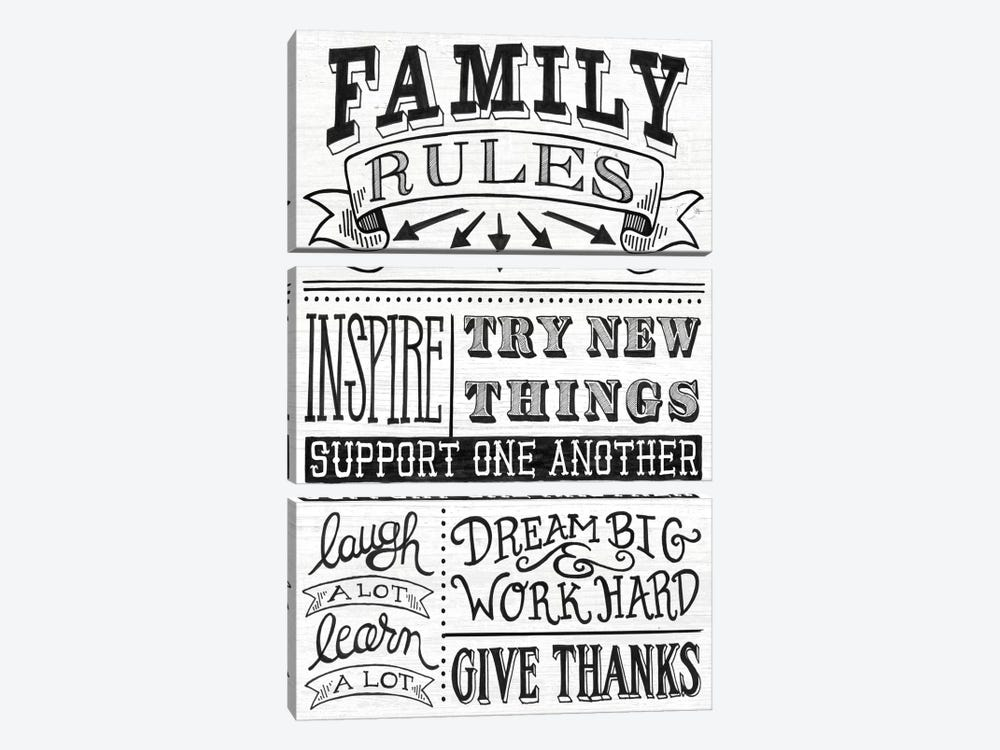 Family Rules II by Mary Urban 3-piece Art Print