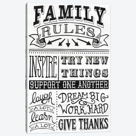 Family Rules II Canvas Print #WAC6428} by Mary Urban Canvas Wall Art