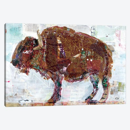 El Buffalo Canvas Print #WAC6447} by Kellie Day Canvas Art Print