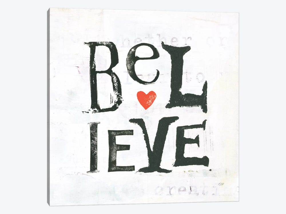 Believe by Kellie Day 1-piece Canvas Wall Art