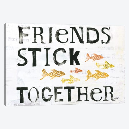 Friends Stick Together Canvas Print #WAC6451} by Kellie Day Canvas Art Print