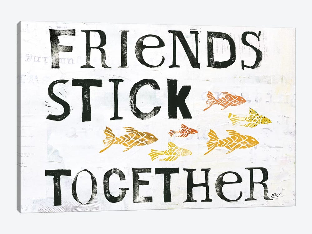 Friends Stick Together by Kellie Day 1-piece Art Print