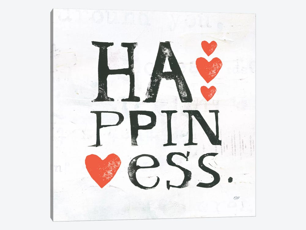 Happiness by Kellie Day 1-piece Canvas Artwork
