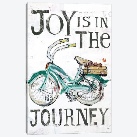 Joy Is In The Journey Canvas Print #WAC6453} by Kellie Day Canvas Art Print