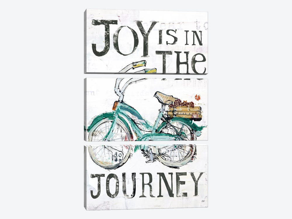 Joy Is In The Journey by Kellie Day 3-piece Canvas Art Print