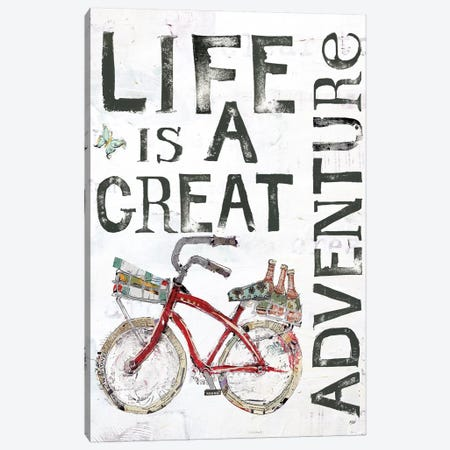Life Is A Great Adventure Canvas Print #WAC6454} by Kellie Day Canvas Artwork