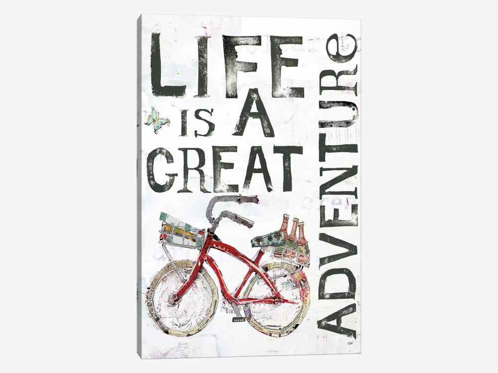 Life Is A Great Adventure by Kellie Day 1-piece Canvas Artwork