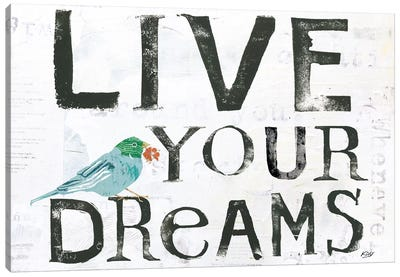 Words Of Inspiration Series: Live Your Dreams Canvas Print #WAC6456