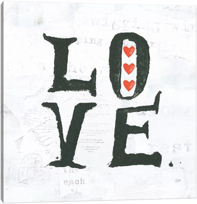 Words Of Inspiration Series: Love Canvas Print #WAC6457