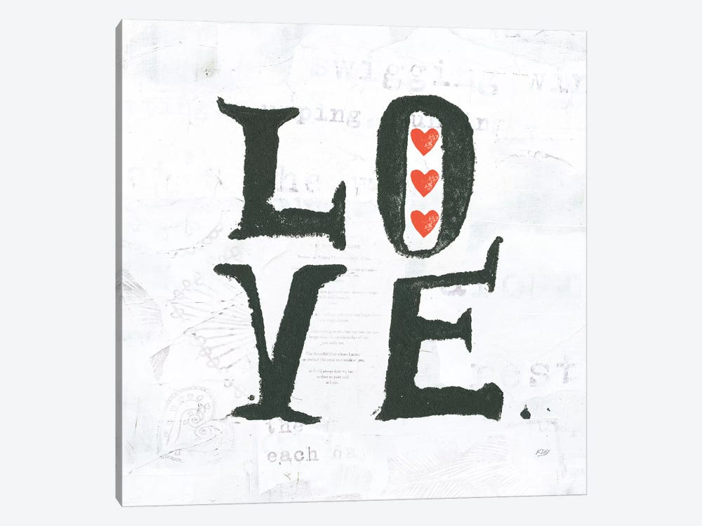 Love by Kellie Day 1-piece Art Print