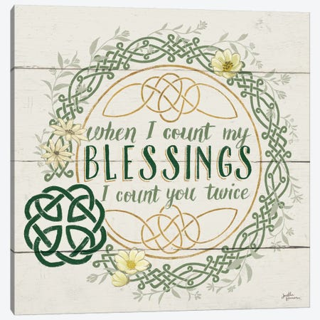 Irish Blessing II Canvas Print #WAC6461} by Janelle Penner Canvas Wall Art