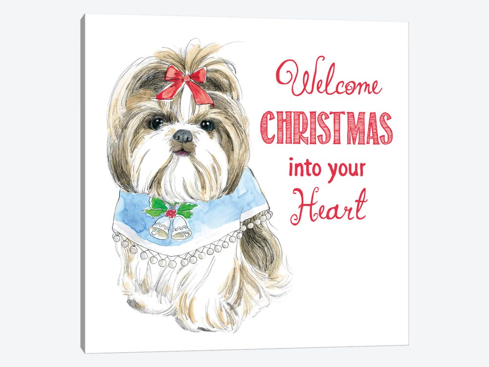 Christmas Glamour Pups II by Beth Grove 1-piece Canvas Art