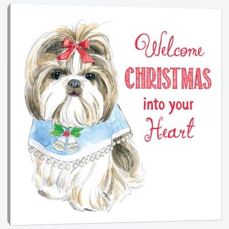 Christmas Glamour Pups II Canvas Print #WAC6463} by Beth Grove Canvas Artwork