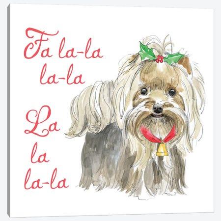 Christmas Glamour Pups VI Canvas Print #WAC6467} by Beth Grove Art Print