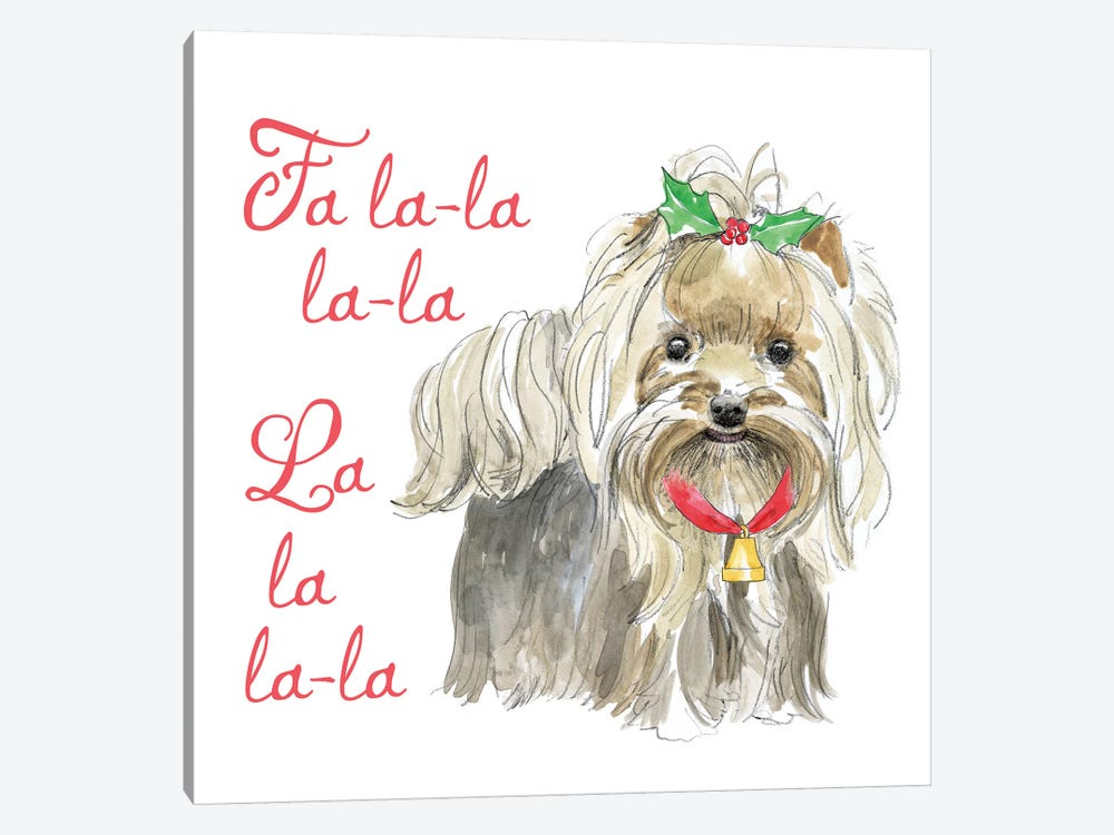 Christmas Glamour Pups VI by Beth Grove 1-piece Canvas Art