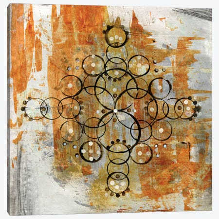 Saffron Mandala II Canvas Print #WAC6480} by Melissa Averinos Canvas Art