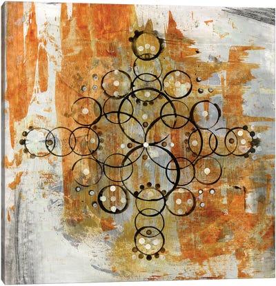 Saffron Mandala II Canvas Art Print