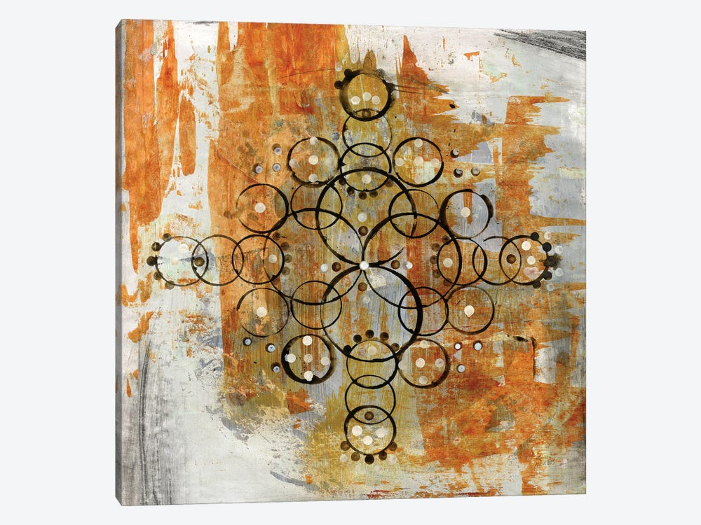 Saffron Mandala II by Melissa Averinos 1-piece Art Print