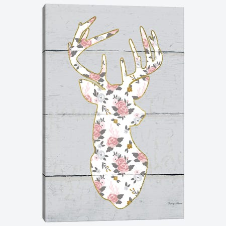 Floral Deer I Canvas Print #WAC6483} by Cleonique Hilsaca Canvas Art