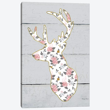 Floral Deer II Canvas Print #WAC6484} by Cleonique Hilsaca Canvas Print