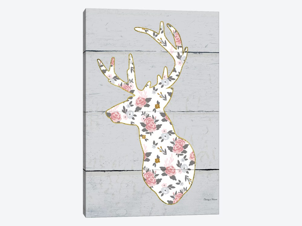Floral Deer II by Cleonique Hilsaca 1-piece Canvas Print