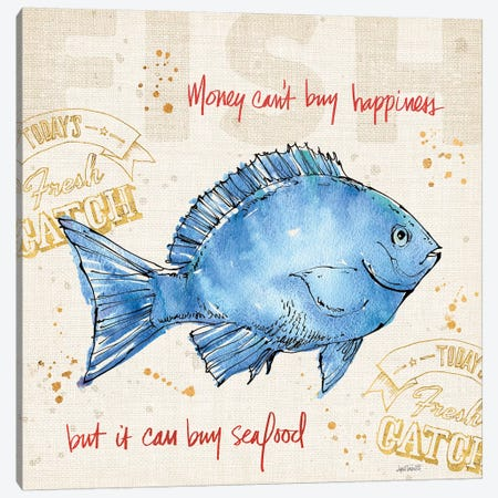 Coastal Catch III Canvas Print #WAC6491} by Anne Tavoletti Canvas Print