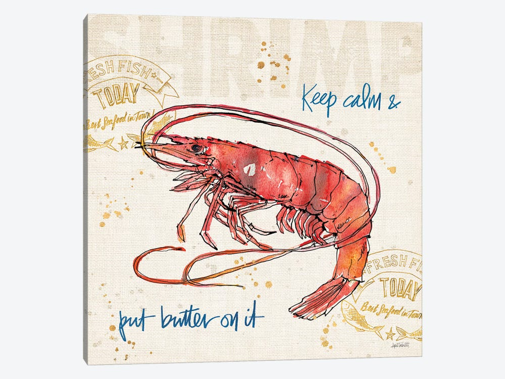 Coastal Catch IV 1-piece Canvas Art
