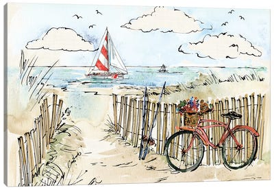 Coastal Catch VI Canvas Art Print