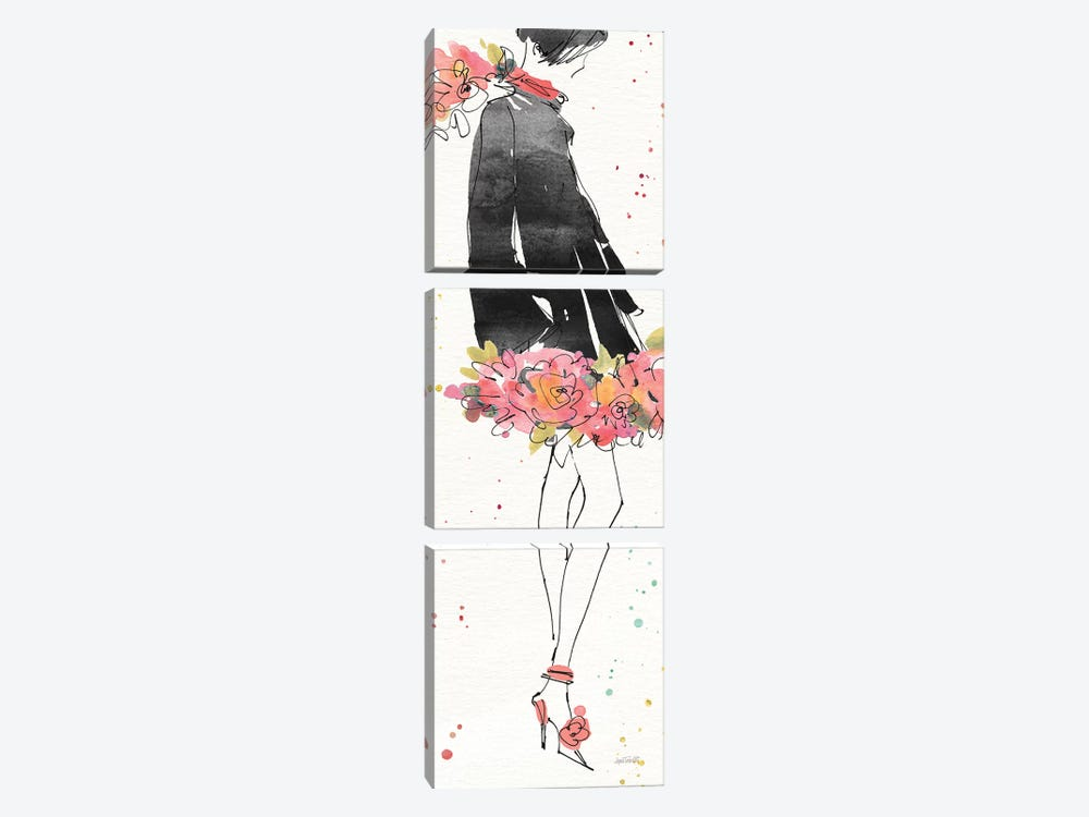 Floral Fashion IV by Anne Tavoletti 3-piece Canvas Artwork
